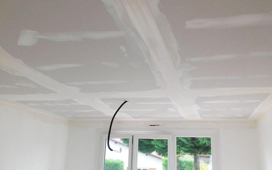 Rénovation d'un plafond en brique
